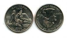 25 центов (квотер) 2005 год (Калифорния) США