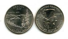 25 центов (квотер) 2005 год (Орегон) США