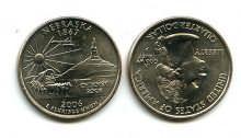 25 центов (квотер) 2006 год (Небраска) США