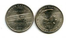 25 центов (квотер) 2001 год (Северная Каролина) США