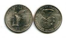 25 центов (квотер) 2001 год (Нью-Йорк) США