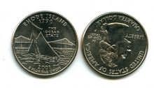 25 центов (квотер) 2001 год (Род-Айленд) США