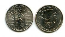25 центов (квотер) 2001 год (Вермонт) США