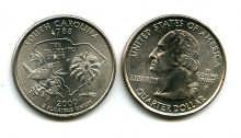25 центов (квотер) 2000 год (Южная Каролина) США