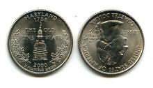 25 центов (квотер) 2000 год (Мэриленд) США