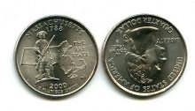 25 центов (квотер) 2000 год (Массачусетс) США