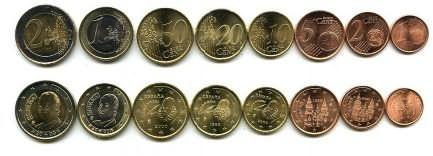 Набор монет евро Испании 2011 год
