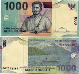 1000 рупий 2013 год Индонезия