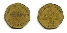 5 гурд 1998 год Гаити
