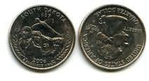 25 центов (квотер) 2006 год (Южная Дакота) США