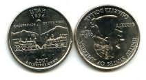 25 центов (квотер) 2007 год (Юта) США