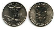 25 центов (квотер) 2007 год (Монтана) США