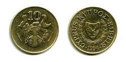10 центов 1994 год Кипр