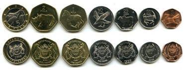Набор монет Ботсваны
