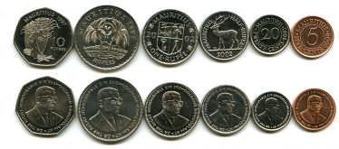 Набор монет Маврикия