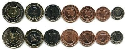 Набор монет Боснии и Герцеговины