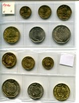Набор из 6 монет Перу