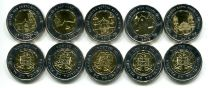 Набор монет Панамы 1 бальбоа Всемирный день молодёжи 2019 год