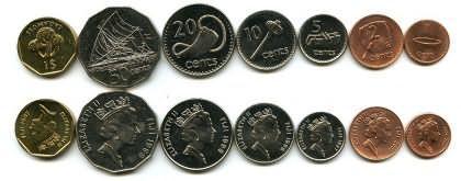 Набор монет Фиджей