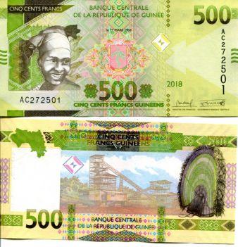 500 франков 2012 год Гвинея