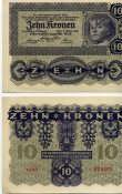 10 крон 1922 год Австрия