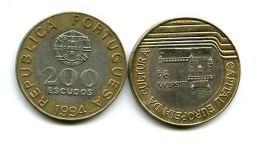 200 эскудо биметалл Португалия