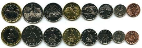 Набор монет Зимбабве