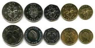 Набор монет Ганы