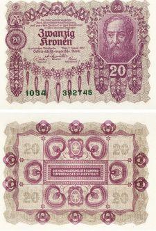 20 крон 1913 год Австрия