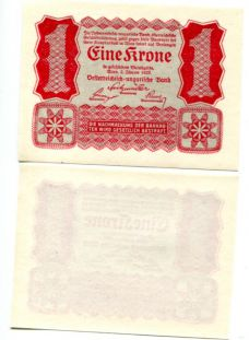 1 крона 1916 год Австрия