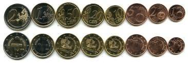 Набор монет Кипра (евро) 2011 год