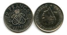 2 франка Монако