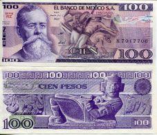 100 песо Мексика 1981 год