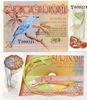 2 1/2 гульдена 1985 год Суринам