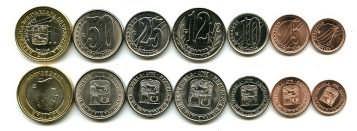 Набор монет Венесуэлы 2007 год