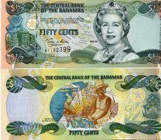 1/2 доллара (50 центов) 2001 год Багамы