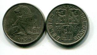 1 франк 1939 год Бельгия