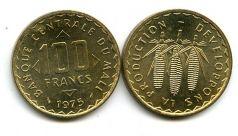 100 франков 1975 год Мали