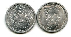 2 франка 1948 год Мадагаскар (французский)