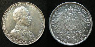 2 марки 1913 год A Германия Пруссия