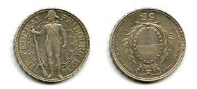 5 франков 1934 год Швейцария