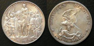 2 марки 1913 год (100 лет Ватерлоо) Пруссия