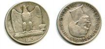 5 лир 1927 год Италия