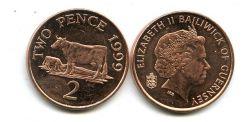 2 пенса 1999 год (корова) Гернси