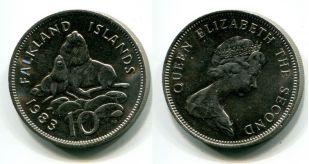 2 пенса 1998 год Фолклендские острова