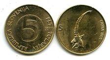 5 толлар 2000 год (альпийский козёл) Словения