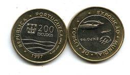 200 эскудо (биметалл, экспо 98) Португалия