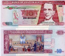 10 кетцаль 2009 год Гватемала