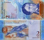 2 боливара 2007 год Венесуэла