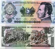 5 лемпир 2004 год Гондурас